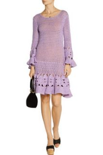 Crocheted cashmere blend mini dress  Michael Kors