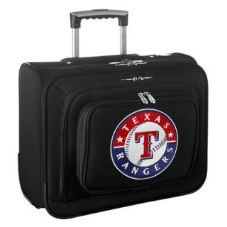 Texas Rangers Carry On Rolling Laptop Bag   Black