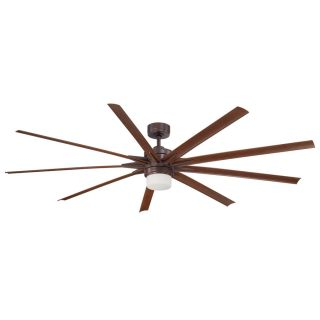 Fanimation Odyn 84 in Dark Bronze Downrod Mount Residential Ceiling Fan Integrated Led Included Remote Control Included (8 Blade) ENERGY STAR