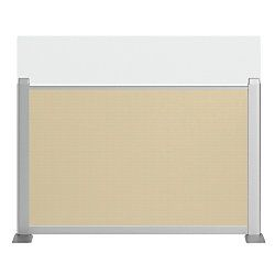BBF Sector Clamp On Privacy Panel 27 12 H x 28 18 W x 1 34 D Latte Premium Installation Service