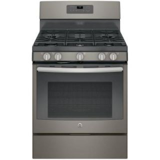 GE 5.0 cu. ft. Gas Range with Self Cleaning Oven in Slate JGB660EEJES