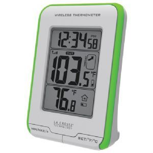 LA CROSSE TECHNOLOGY 308 1410GR DIGITAL INDOOR/OUTDOOR THERMOMETER