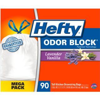 Hefty 90 Count 13 Gallon Lavender Vanilla White Kitchen Trash Bags
