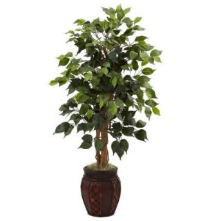 Nearly Natural 44 in. Ficus Tree with Decorative Planter 5929