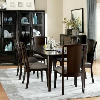 Legacy Classic Furniture 3480 221 (6)3480 140 KD Palisades Leg Table and 6 Splat Back Side Chairs