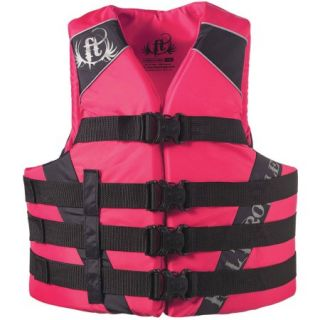 Full Throttle Adult Dual Sized Nylon Watersports Vest, Pink