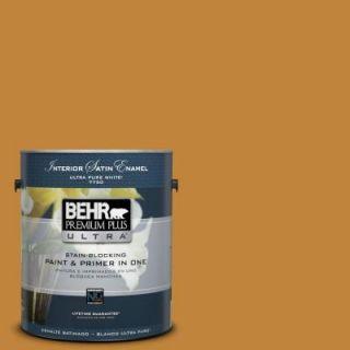 BEHR Premium Plus Ultra 1 gal. #M260 7 Back to School Satin Enamel Interior Paint 775301   Mobile