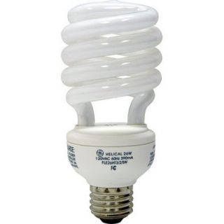 Ge Es Daylight Cfl Bulb Spiral T3 Med Base 100 W, 23 W 1600 Lumens 6500 K Esr