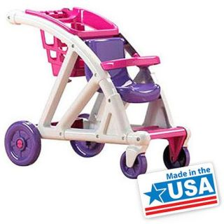 American Plastic Toys Shop With Me Stroller