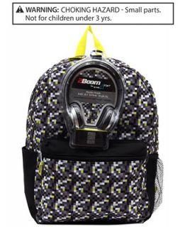 FAB Boys or Little Boys Digital Camo 17 Backpack with Headphones