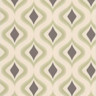 Graham & Brown 56 sq. ft. Trippy Green Wallpaper DISCONTINUED 30 448