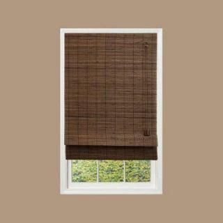 Home Decorators Collection Espresso Fine Weave Bamboo Roman Shade   35 in. W x 72 in. L 0259335