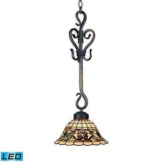 Elk Lighting Tiffany Buckingham 582369 VA LED9 25 1 Light Pendant, Vintage Antique