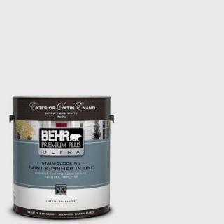 BEHR Premium Plus Ultra 1 gal. #PWN 44 Bay Breeze Satin Enamel Exterior Paint 985001
