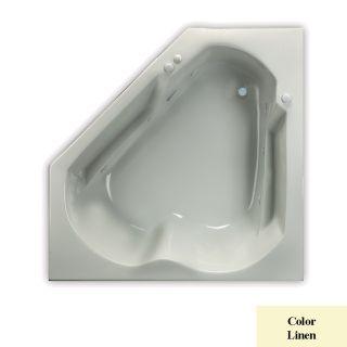 Laurel Mountain Trade Dual Corner 2 Person Linen Acrylic Corner Whirlpool Tub (Common: 60 in x 60 in; Actual: 20 in x 60 in x 60 in)