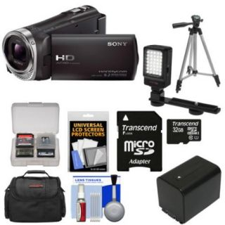 Sony Handycam HDR CX330 1080p Full HD Video Camera Camcorder with 32GB Card + Battery + Case + LED Video Light + Tripod Kit
