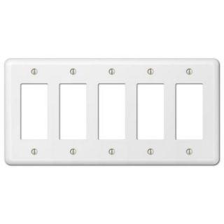 Hampton Bay Devon 5 Decorator Wall Plate   White 935R5W