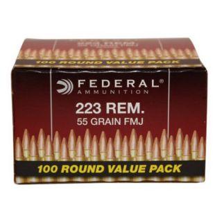 Federal Ammunition 223 Rem 55gr Full Metal Jacket, 100ct