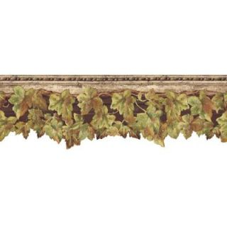 The Wallpaper Company 8 in. x 10 in. Brown English Ivy Border Sample WC1282318S