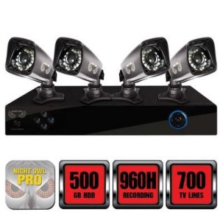 Night Owl Pro Series 8 Channel 960H 500GB Surveillance System with HDD and (4) 700 TVL Cameras B PE85 47