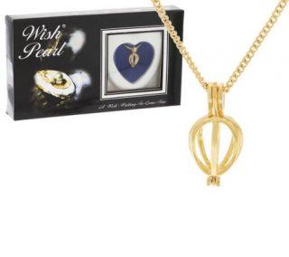 Wish Pearl Cultured Pearl Heart Pendant w/ Chain —
