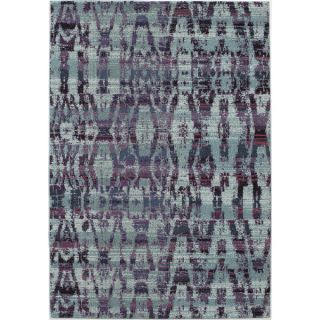 Abode Blue Power Loomed Abstract Texture Rug (53 x 76)   16608157