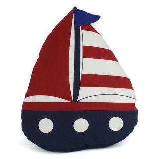 American Sailboat Decorative Throw Pillow