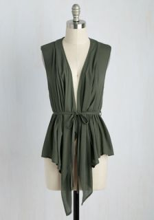Don the Road Vest in Olive  Mod Retro Vintage Short Sleeve Shirts