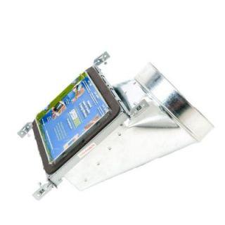 SPEEDI  BOOT 6 in. W x 14 in. L to 8 in. Diameter 90 Degree Register Vent Boot with Adjustable Hangers SBH 6148 NB