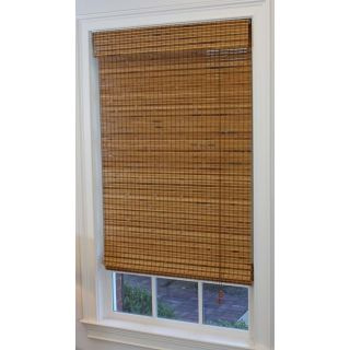 Style Selections 48 in W x 64 in L Pecan Light Filtering Bamboo Natural Roman Shade