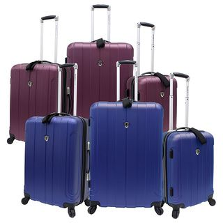 Travelers Choice Cape Verde 3 piece Hardside Luggage Set   2 Carry On