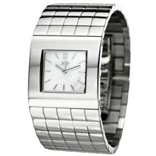 Joy Womens Cuadrods Stainless Steel Cuff Quartz Watch   12725435