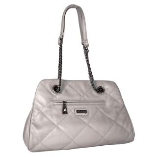 by Miadora Kimberly Gray Quilted Shoulder Bag   14701741