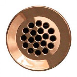 """Whitehaus WH735O CO 2 1/8""""   1 1/2"""" Grid Drain   Antique Copper"""