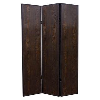 71 X 52 Criss Cross Faux Leather 3 Panel Room Divider