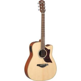 A1M Yamaha Yamaha A1M Dreadnought Cutaway Acoustic Electric Guitar with SRT Pickup, Mahogany Neck, Mahogany Back & Side, 100 118mm Body Depth, Gloss, Natural