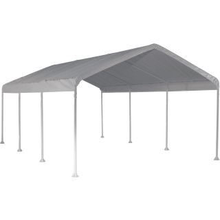ShelterLogic Super Max 12ft.W Commercial Canopy — 20ft.L x 12ft.W x 9ft. 8in.H, 2in. Frame, 8-Leg, Model# 25773  Canopies