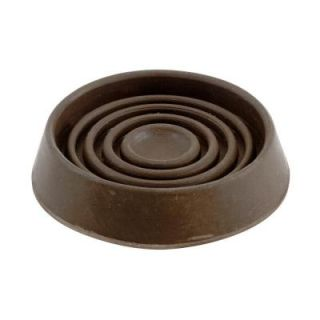 Shepherd 1 1/2 in. Brown Smooth Rubber Furniture Cups (4 per Pack) 89075
