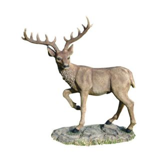 Grand Scale Black Forest Garden Deer Statue by Design Toscano
