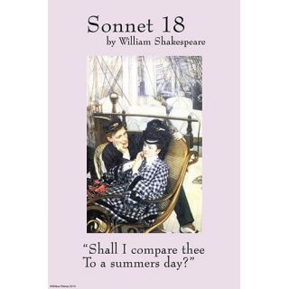 Buyenlarge Sonnet 18; Last Evening by William Shakespeare Wall Art