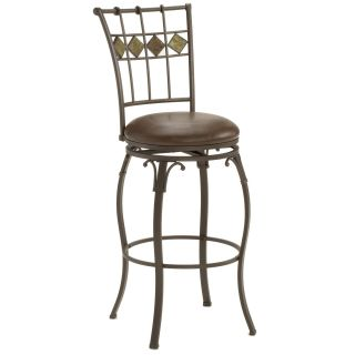 Hillsdale Furniture 4264 826 Lakeview Slate Back Swivel Counter Stool in Brown