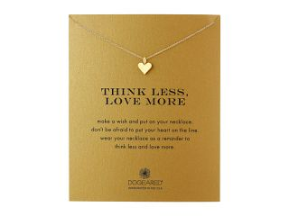 Dogeared Think Less, Love More Heart Necklace