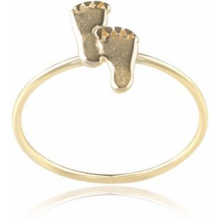 Brinley Co. Women's Sterling Silver Feet Ring