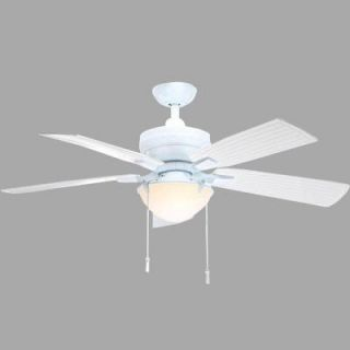 Hampton Bay Four Winds 54 in. Indoor/Outdoor White Ceiling Fan AC457 WH