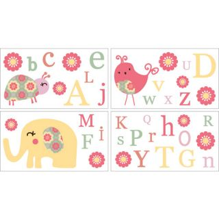 CoCaLo CoCo & Company Alphabet Sweeties Removable Wall Appliques