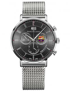 Maurice Lacroix Eliros Chronograph Black Dial Mens Stainless Steel