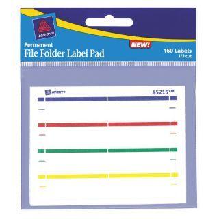 AVERY File Folder Label Pad,PK6   5NHN8 45215   Grainger