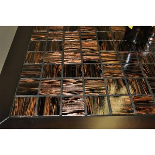 ECI Furniture 3325 99 I Glass Tile Top Island with Pull Out Trays in Espresso