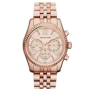Michael Kors Womens MK5569 Lexington Rose Gold Tone Watch