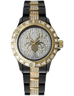 Toy Watch Crystal set Dial Polycarbonate and Steel Bracelet Unisex